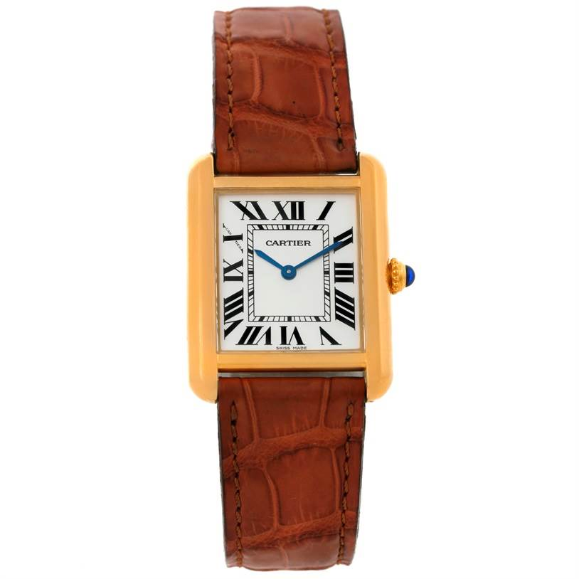 8915 Cartier Tank Solo Small Gold and Steel Watch W1018755 SwissWatchExpo