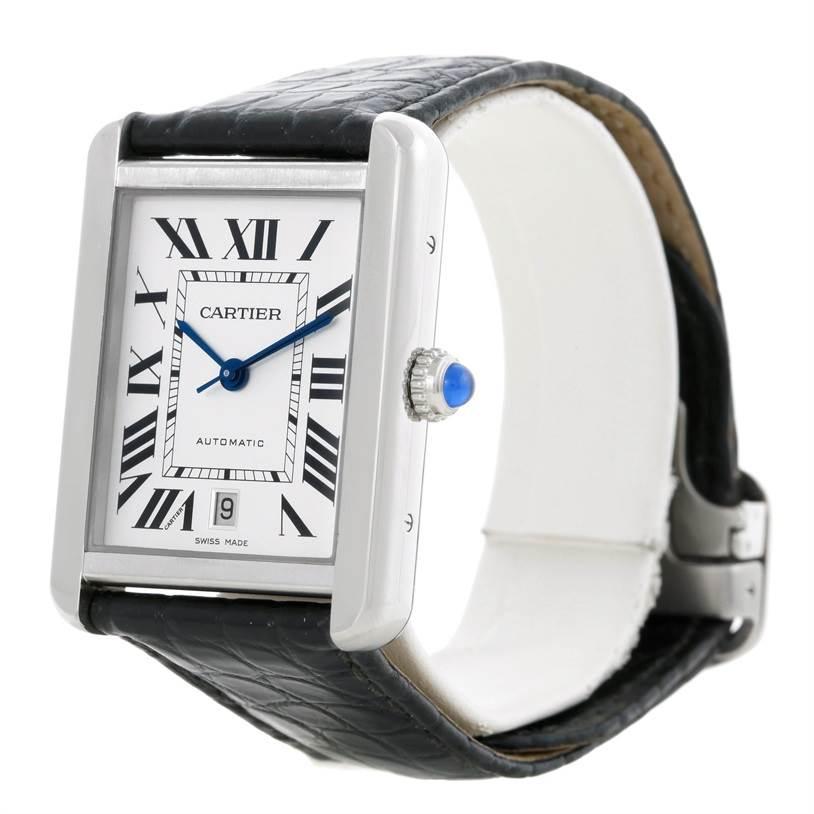 8980 Cartier Tank Solo XL Automatic Mens Watch W5200027 SwissWatchExpo