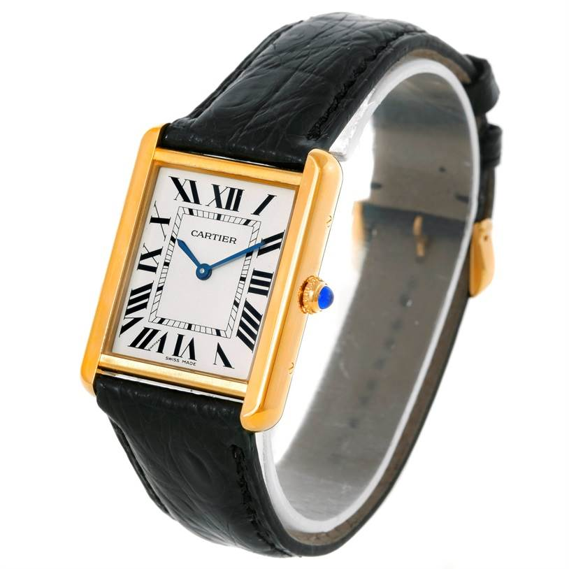 9042 Cartier Tank Solo 18k Yellow Gold Large Watch W1018855 SwissWatchExpo