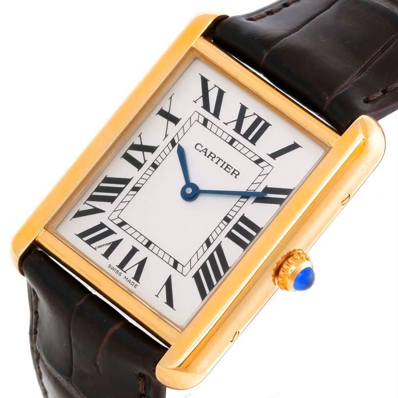 9493 Cartier Tank Solo 18k Yellow Gold Large Watch W1018855 SwissWatchExpo