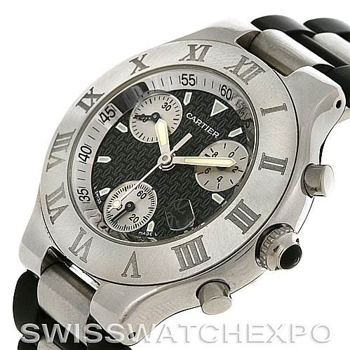 2777 Cartier  Must 21 Chronoscaph Mens Watch W10125U2 SwissWatchExpo