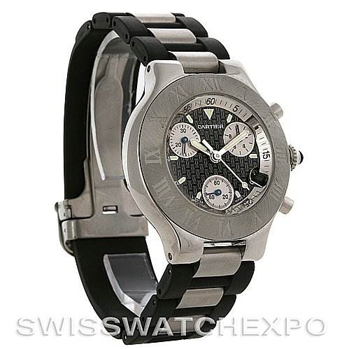 3019 Cartier Must 21 Chronoscaph Mens Watch W10125U2 SwissWatchExpo