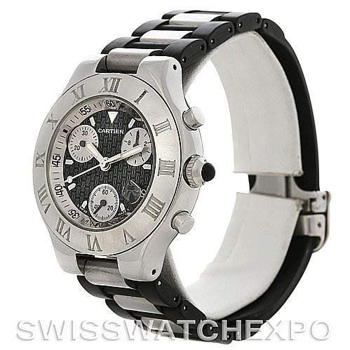 Cartier Must 21 Chronoscaph Mens Watch W10125U2 SwissWatchExpo