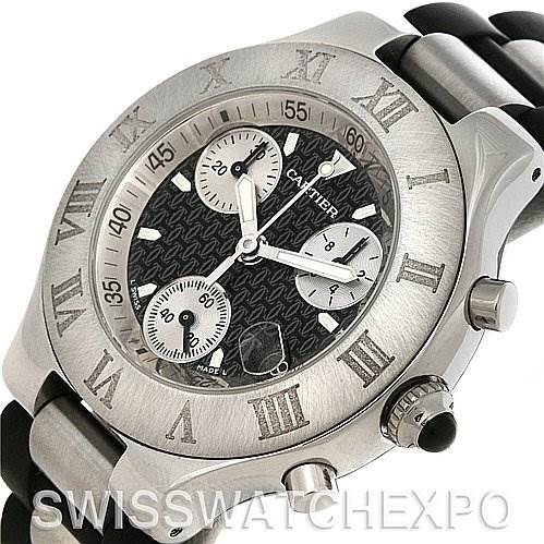 4251 Cartier Must 21 Chronoscaph Mens Watch W10125U2 SwissWatchExpo