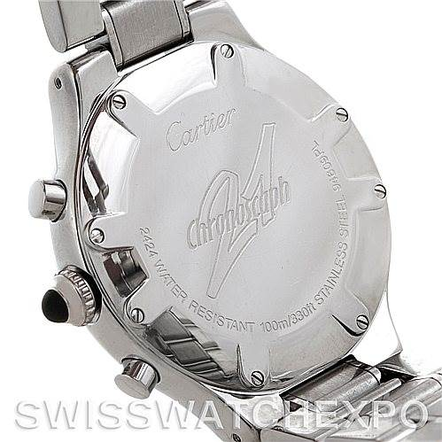 5741 Cartier Must 21 Chronoscaph Mens Watch W10172T2 SwissWatchExpo