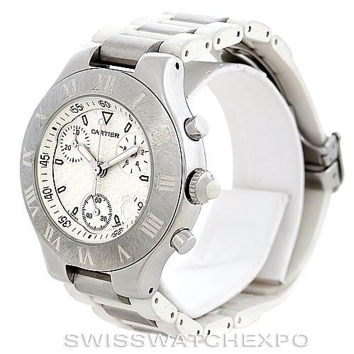 6334 Cartier Must 21 Chronoscaph Mens Watch W10184U2 SwissWatchExpo