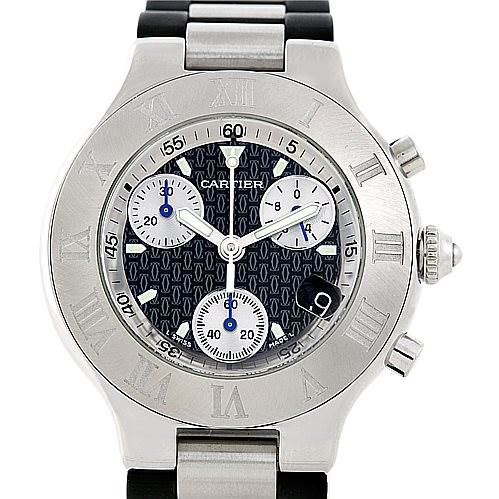 7120 Cartier Must 21 Chronoscaph Mens Watch W10125U2 SwissWatchExpo