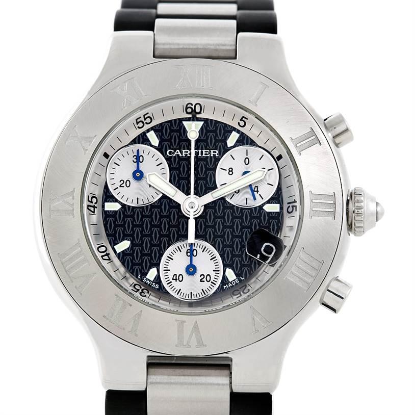 7120 Cartier Must 21 Chronoscaph Mens Watch W10125U2 SwissWatchExpo