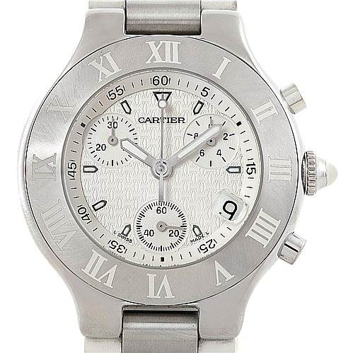 7207 Cartier Must 21 Chronoscaph Mens Watch W10184U2 SwissWatchExpo