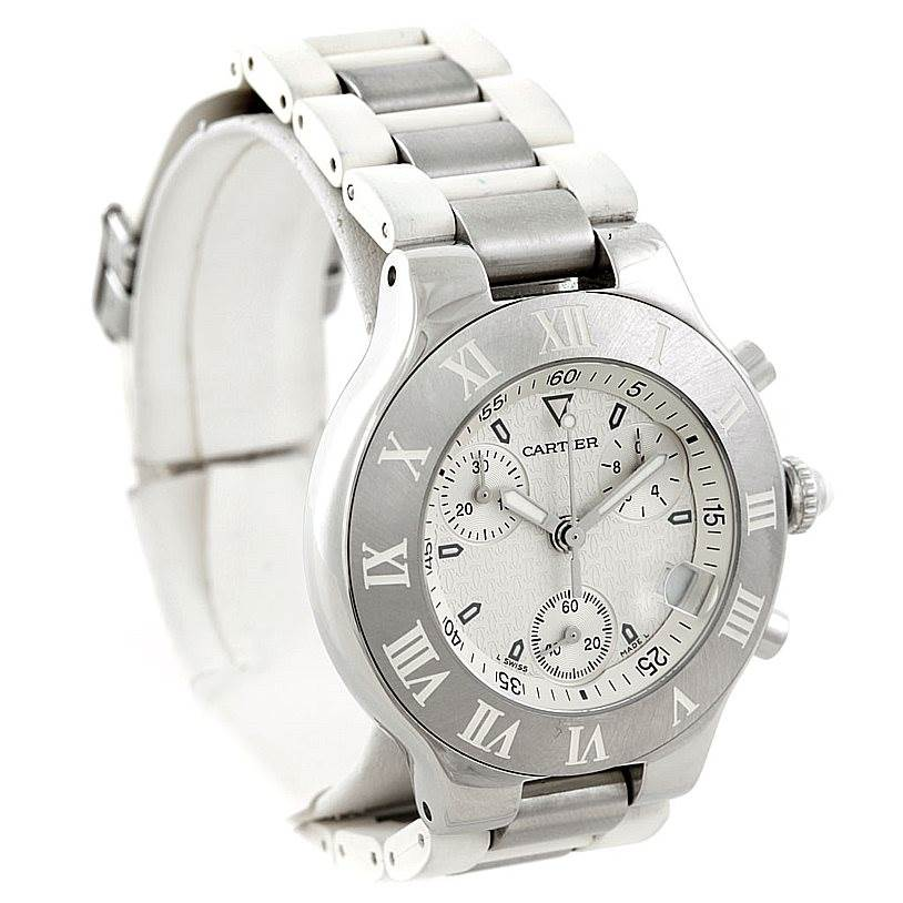 7206 Cartier Must 21 Chronoscaph Mens Watch W10184U2 SwissWatchExpo