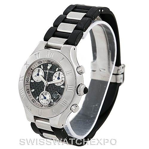7610X Cartier Must 21 Chronoscaph Mens Watch W10125U2 SwissWatchExpo