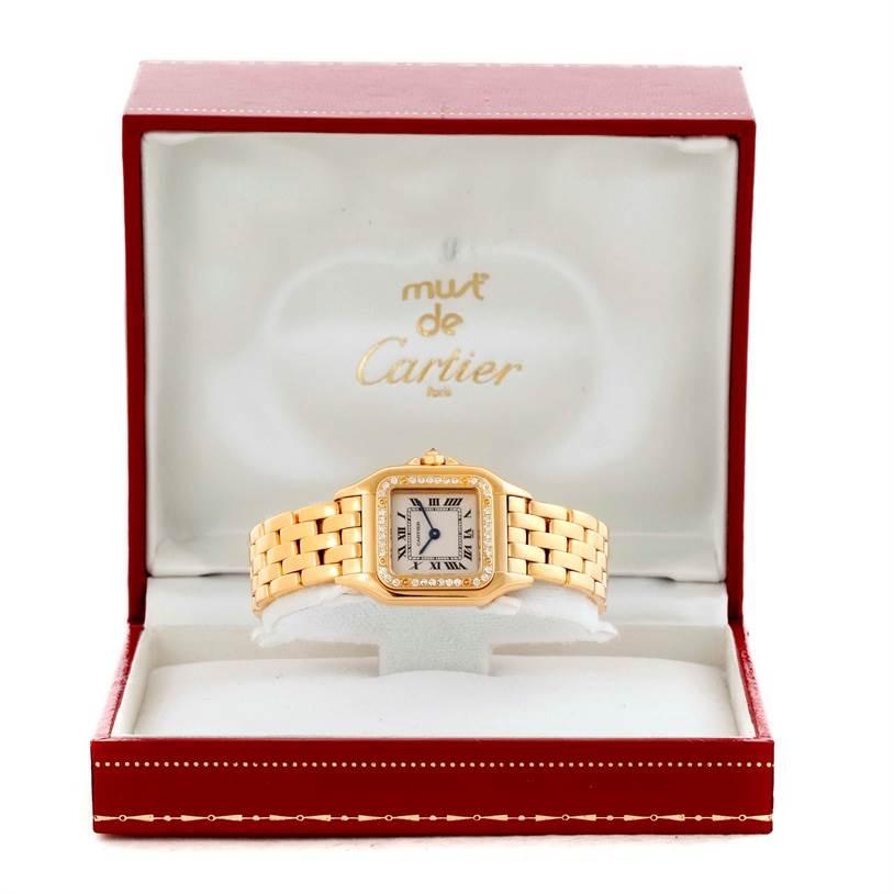 10429 Cartier Panthere Ladies 18k Yellow Gold Diamond Watch WF3070B9 SwissWatchExpo