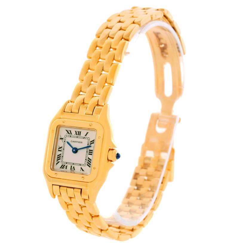 10462 Cartier Panthere Small 18k Yellow Gold Ladies Watch W25022B9 SwissWatchExpo