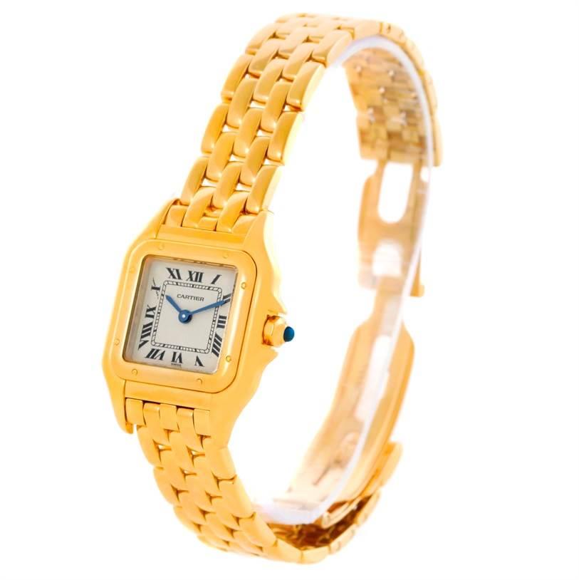 10635 Cartier Panthere 18k Yellow Gold Quartz Ladies Watch W25022B9 SwissWatchExpo