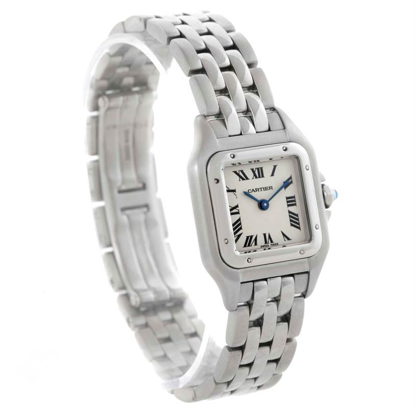 10324 Cartier Panthere Ladies Small Stainless Steel Watch W25033P5 SwissWatchExpo
