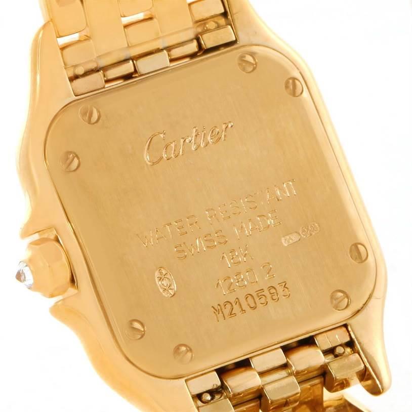 11747 Cartier Panthere Ladies 18k Yellow Gold Diamond Quartz Watch WF3072B9 SwissWatchExpo
