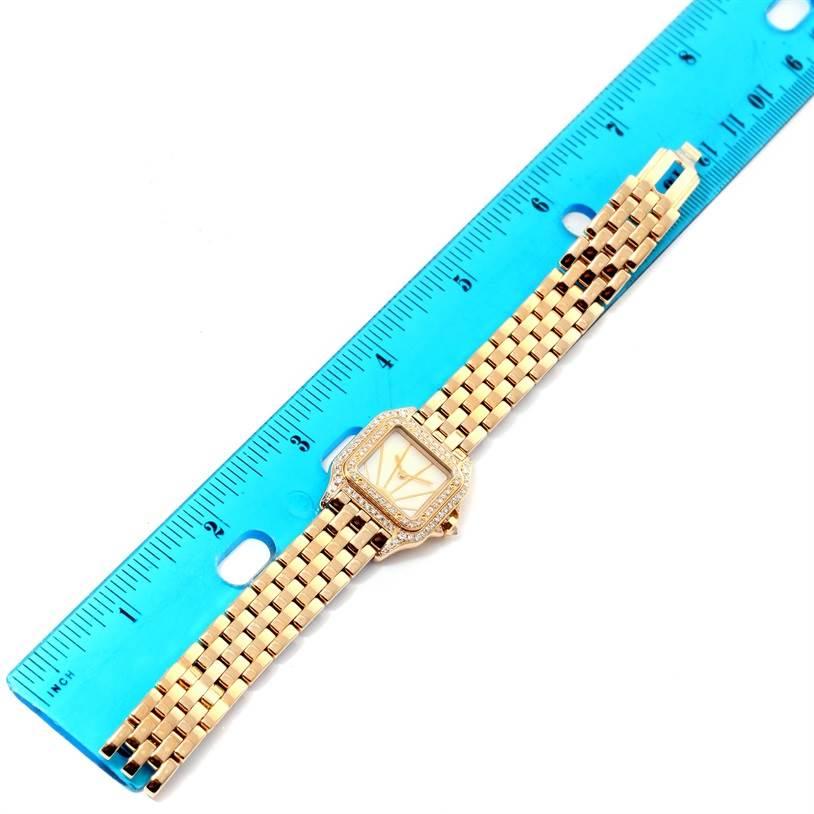 12028 Cartier Panthere Ladies 18k Yellow Gold Diamond Sunrise Dial Watch SwissWatchExpo