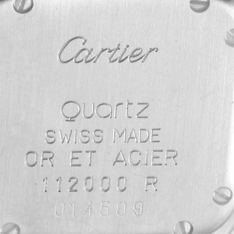 12406 Cartier Panthere Steel 18K Yellow Gold 3 Row Watch W25029B6 Box Papers SwissWatchExpo