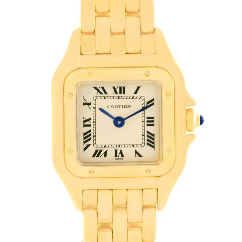 12448 Cartier Panthere Ladies 18k Yellow Gold Ladies Watch W25022B9 SwissWatchExpo