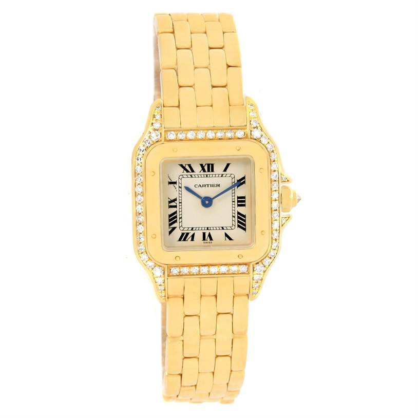 12481A Cartier Panthere Ladies 18k Yellow Gold Diamond Watch W25022B9 Partial Payment SwissWatchExpo