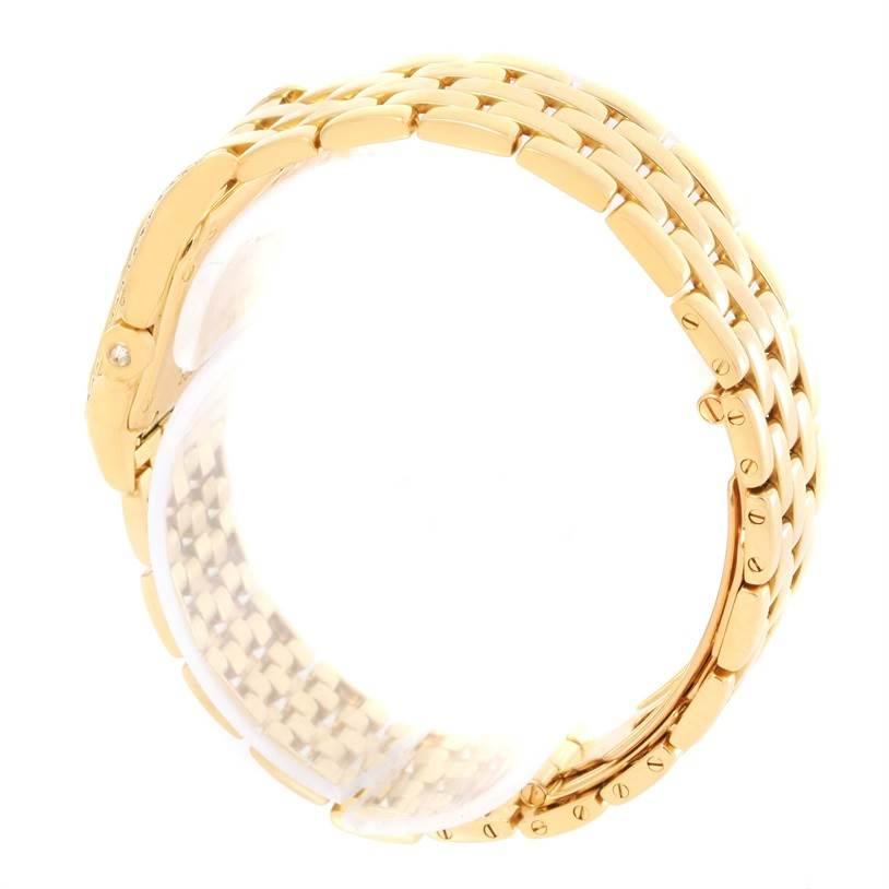 12481 Cartier Panthere Ladies 18k Yellow Gold Diamond Watch W25022B9 SwissWatchExpo
