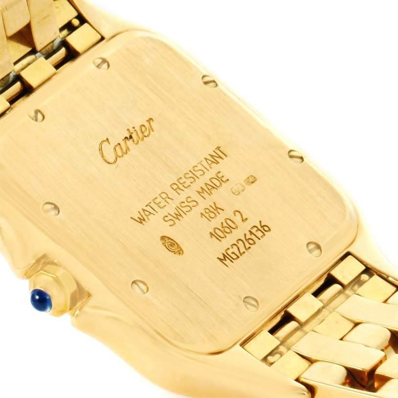 12098 Cartier Panthere XL 18K Yellow Gold Date Unisex Watch W25014B9 SwissWatchExpo