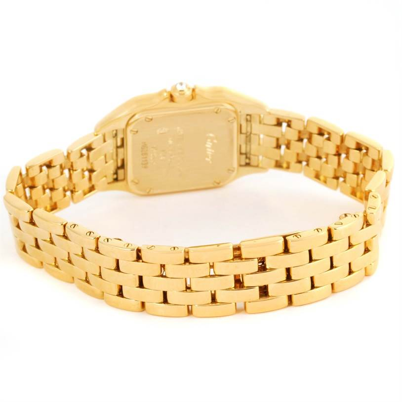 12742 Cartier Panthere Ladies 18k Yellow Gold Diamond Watch WF3070B9 SwissWatchExpo