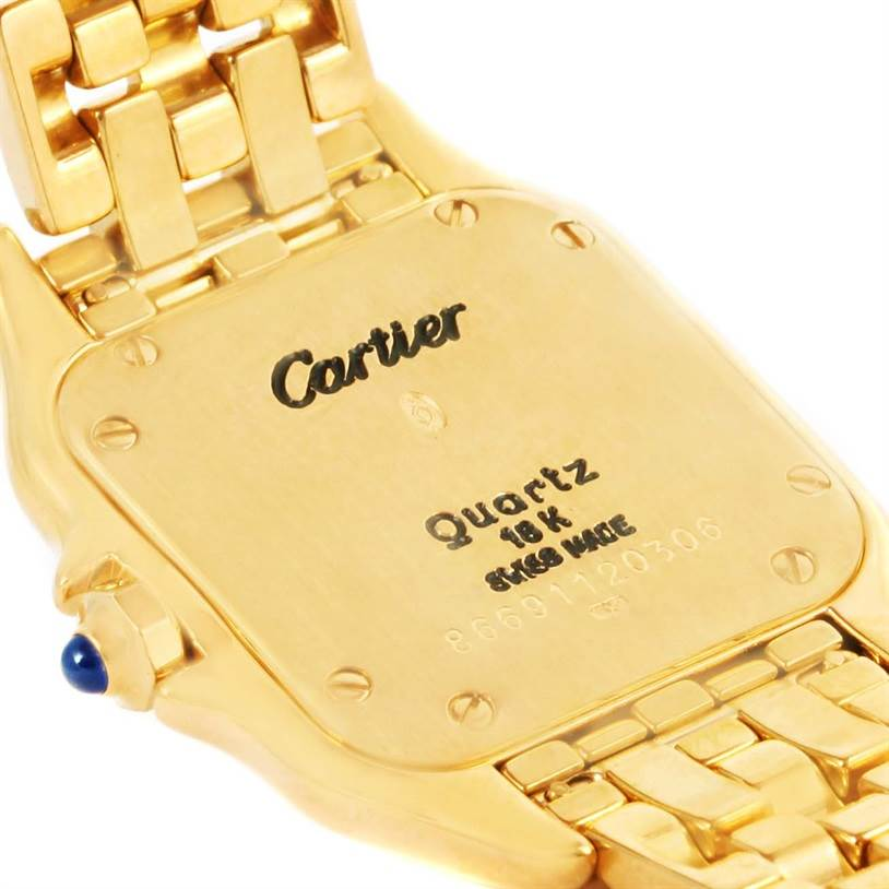 12774 Cartier Panthere Ladies 18k Yellow Gold Ladies Watch W25022B9 SwissWatchExpo