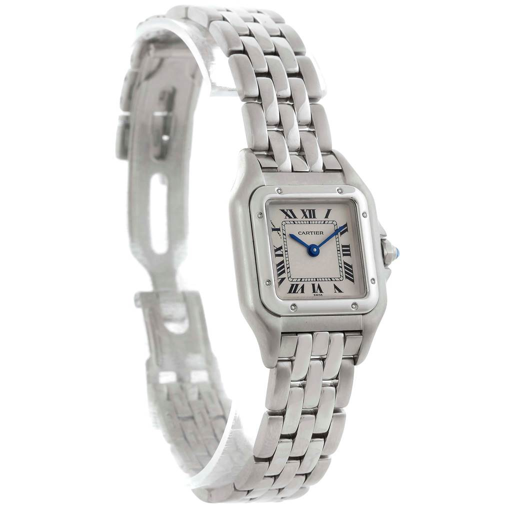 8712A Cartier Panthere Ladies Small Stainless Steel Watch W25033P5 SwissWatchExpo