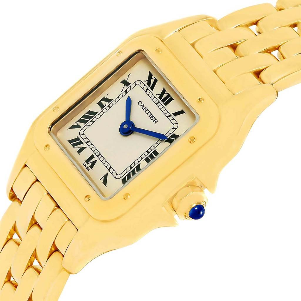 12937 Cartier Panthere Ladies 18k Yellow Gold Ladies Watch W25022B9 SwissWatchExpo
