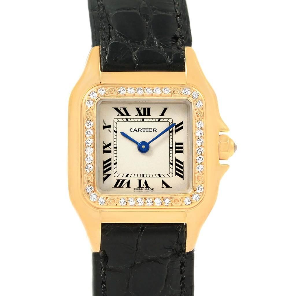 Cartier Panthere Ladies 18k Yellow Gold Diamond Watch WF3070B9