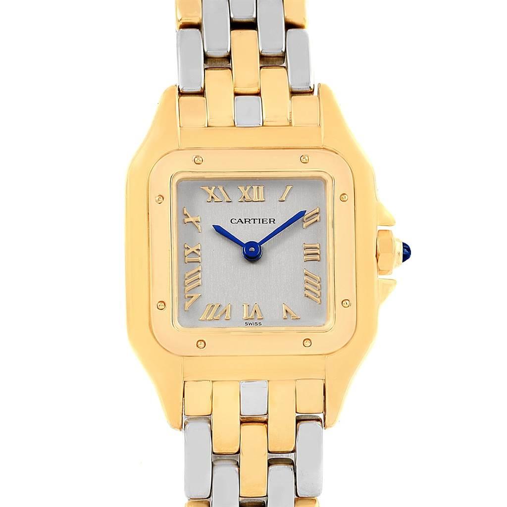 Cartier Panthere Ladies Yellow Gold Steel Ladies Watch 1070 SwissWatchExpo