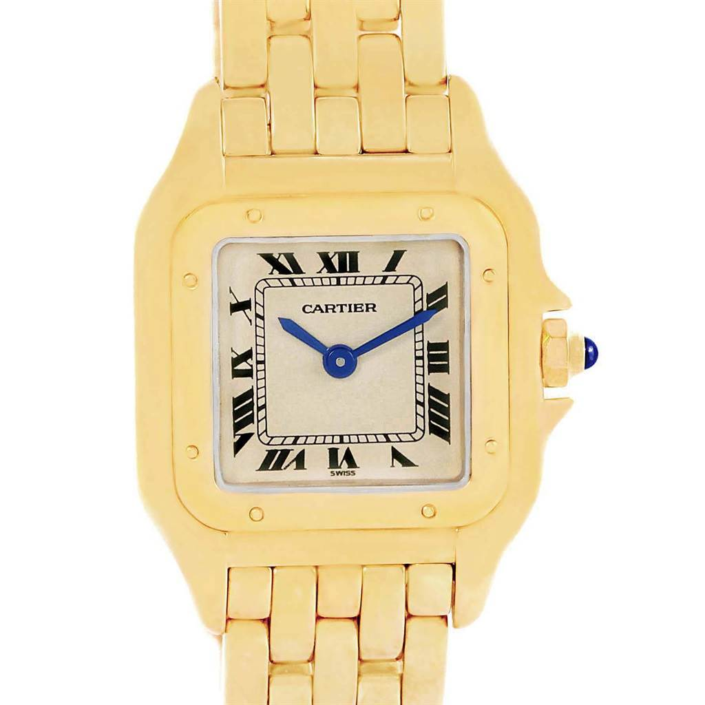 17456 Cartier Panthere 18k Yellow Gold Small Ladies Watch W25022B9 SwissWatchExpo