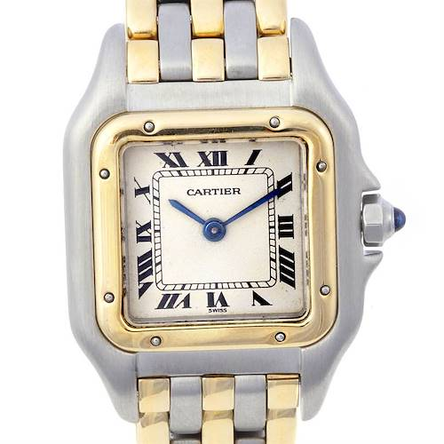 Photo of Cartier Panthere Ladies Ss & 18k Yellow Gold Three Row Watch