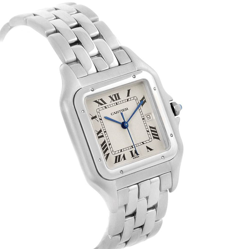 Cartier Panthere Jumbo Stainless Steel Quartz Watch W25032P5 Papers SwissWatchExpo