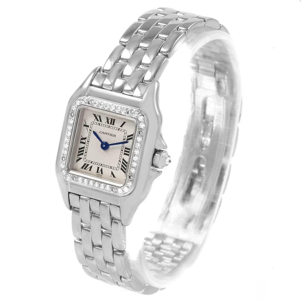 20902 Cartier Panthere Ladies 18k White Gold Diamond Watch WF3091F3 SwissWatchExpo