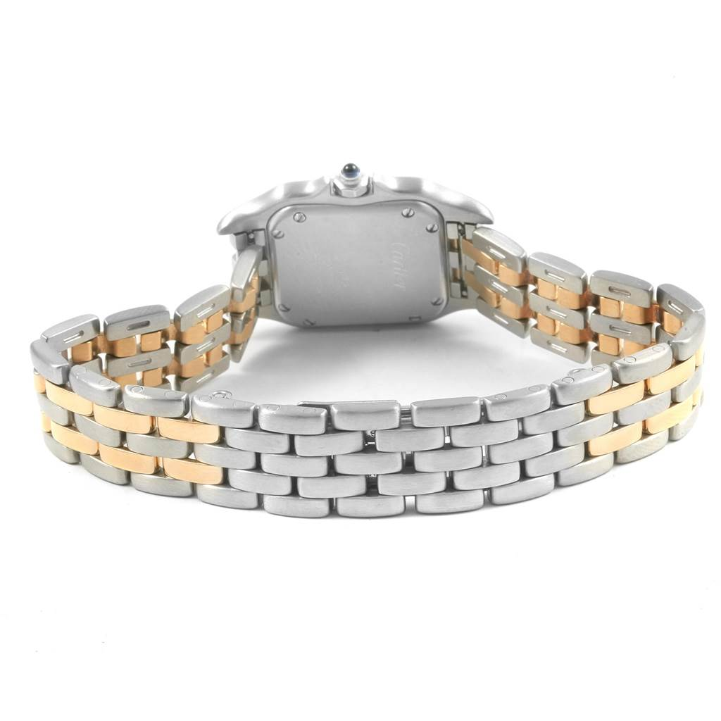 20370 Cartier Panthere Steel 18K Yellow Gold 2-row Ladies Watch W25029B6 SwissWatchExpo
