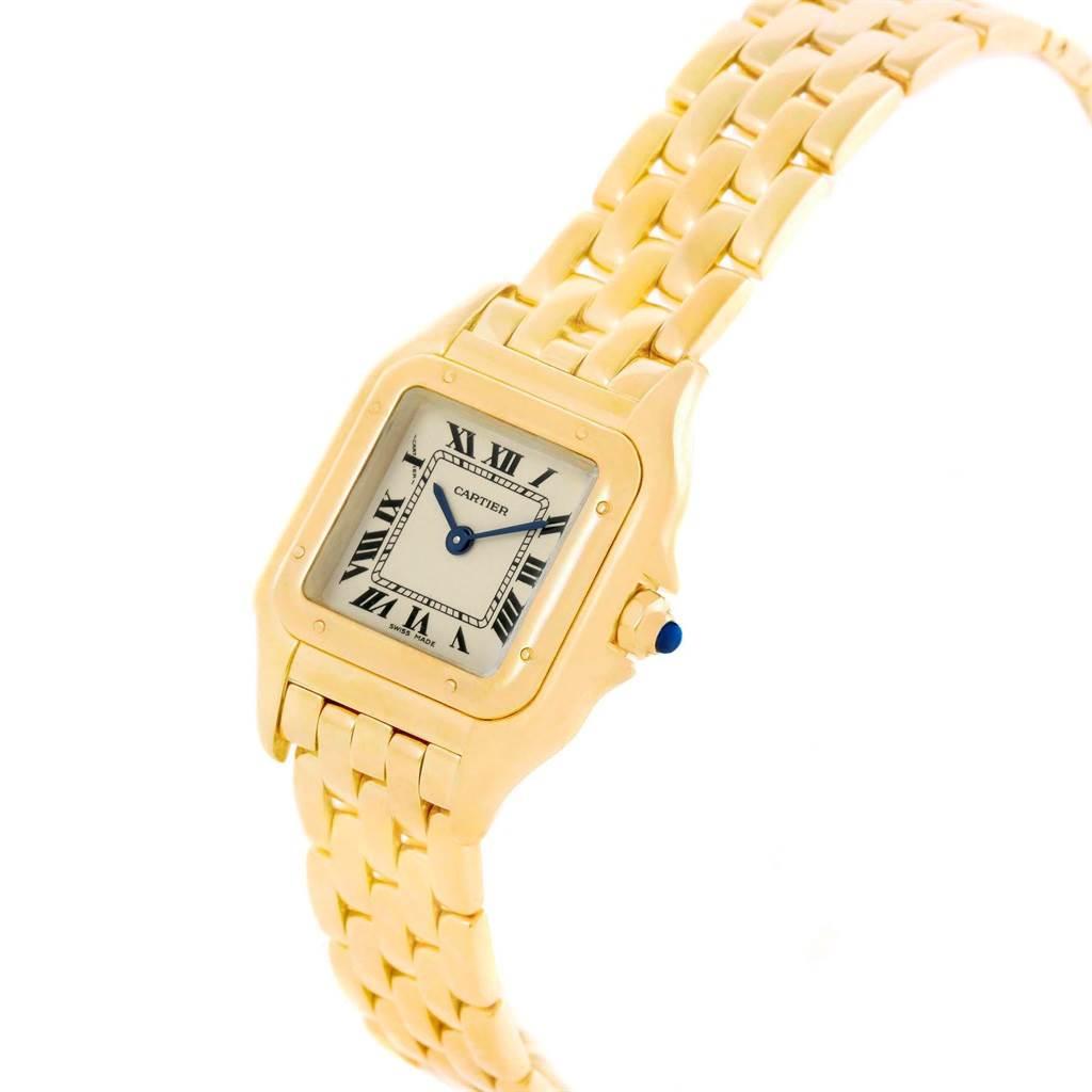 20556 Cartier Panthere Yellow Gold Small Quartz Ladies Watch W25022B9 SwissWatchExpo