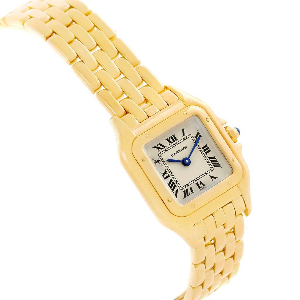 Cartier Panthere Yellow Gold Small Quartz Ladies Watch W25022B9 SwissWatchExpo