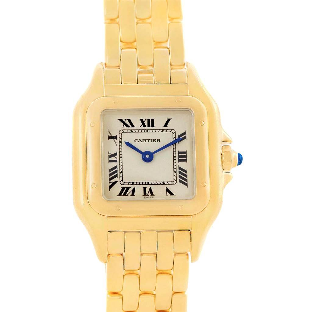 20816 Cartier Panthere Yellow Gold Small Quartz Ladies Watch W25022B9 SwissWatchExpo