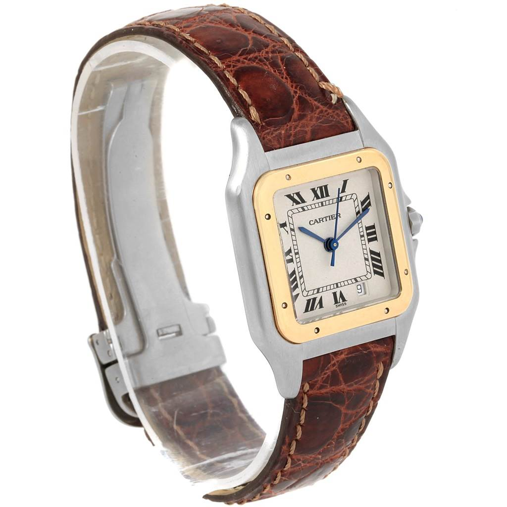 20820 Cartier Panthere Steel Yellow Gold Brown Unisex Watch W25028B5 Box SwissWatchExpo