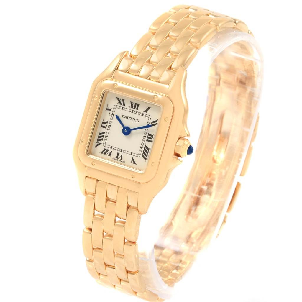 20742 Cartier Panthere Yellow Gold Small Quartz Ladies Watch W25022B9 SwissWatchExpo