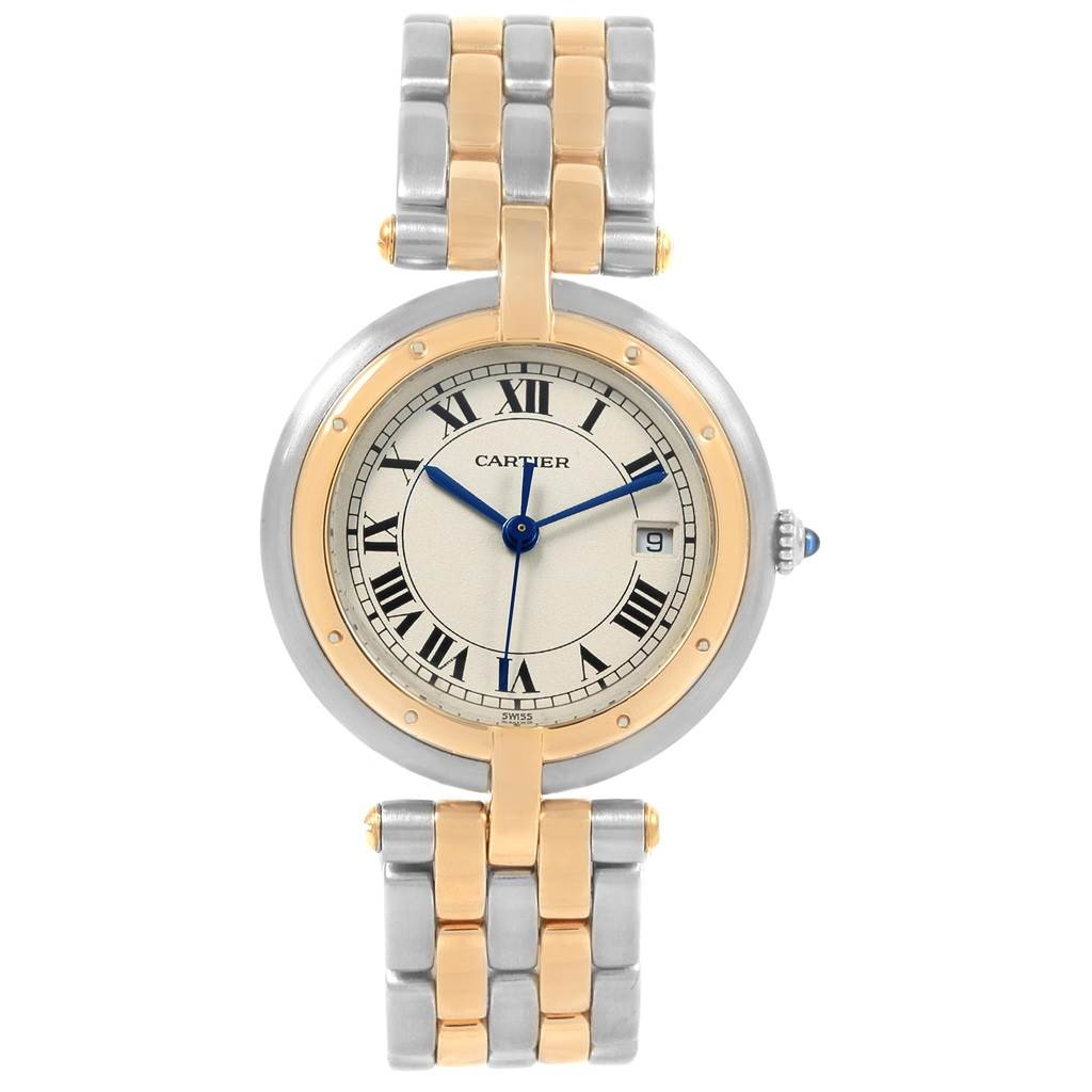 20784 Cartier Panthere Vendome Two Row Steel Yellow Gold Ladies Watch SwissWatchExpo