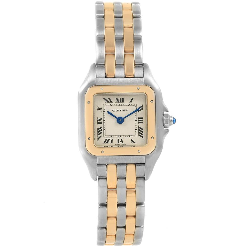 20964 Cartier Panthere Steel 18K Yellow Gold 2-Row Ladies Watch W25029B6 SwissWatchExpo