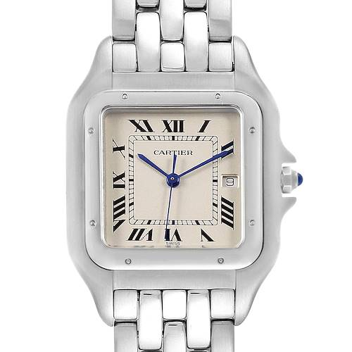 Cartier Panthere Jumbo Stainless Steel Mens Watch W25032P5