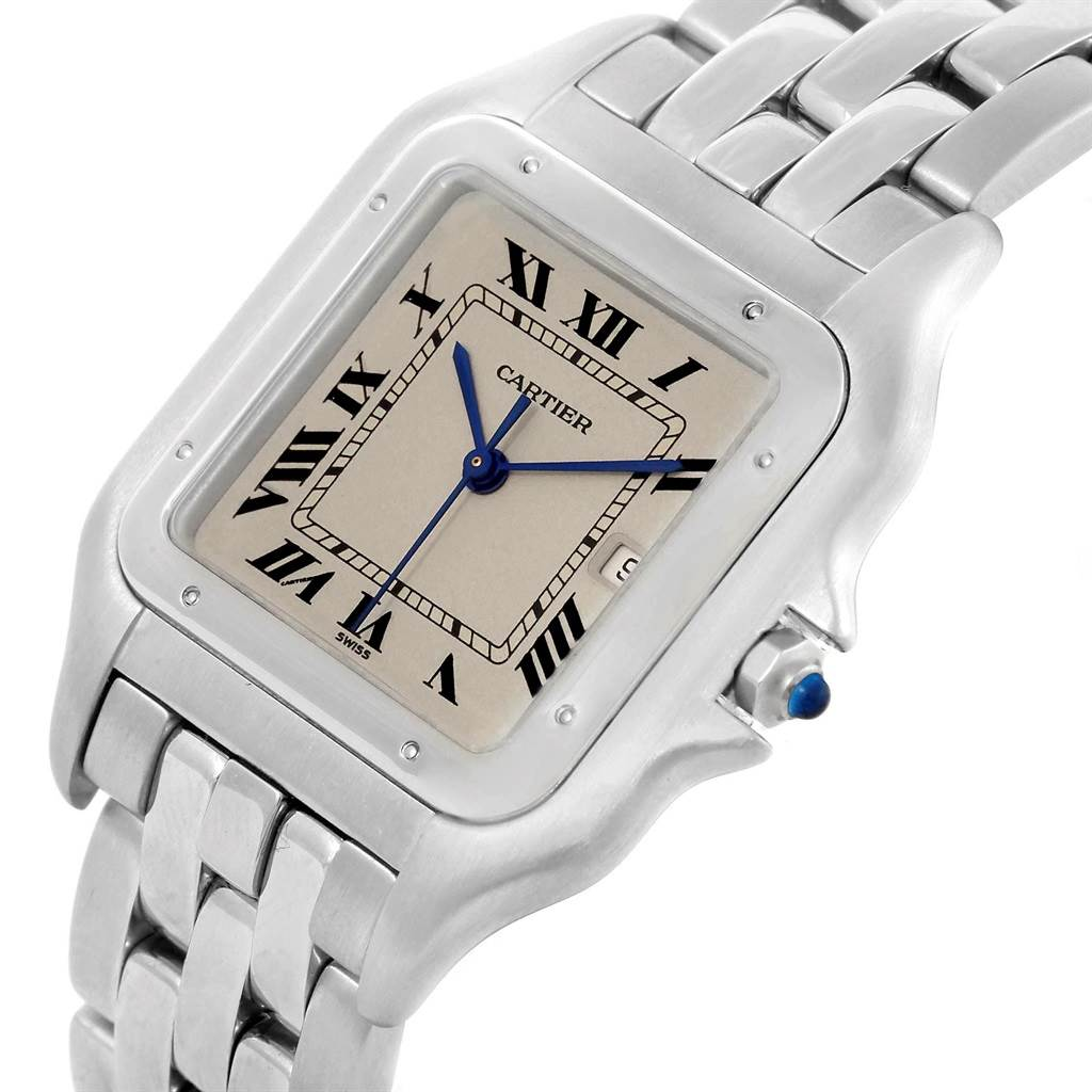 21149 Cartier Panthere Jumbo Stainless Steel Mens Watch W25032P5 SwissWatchExpo