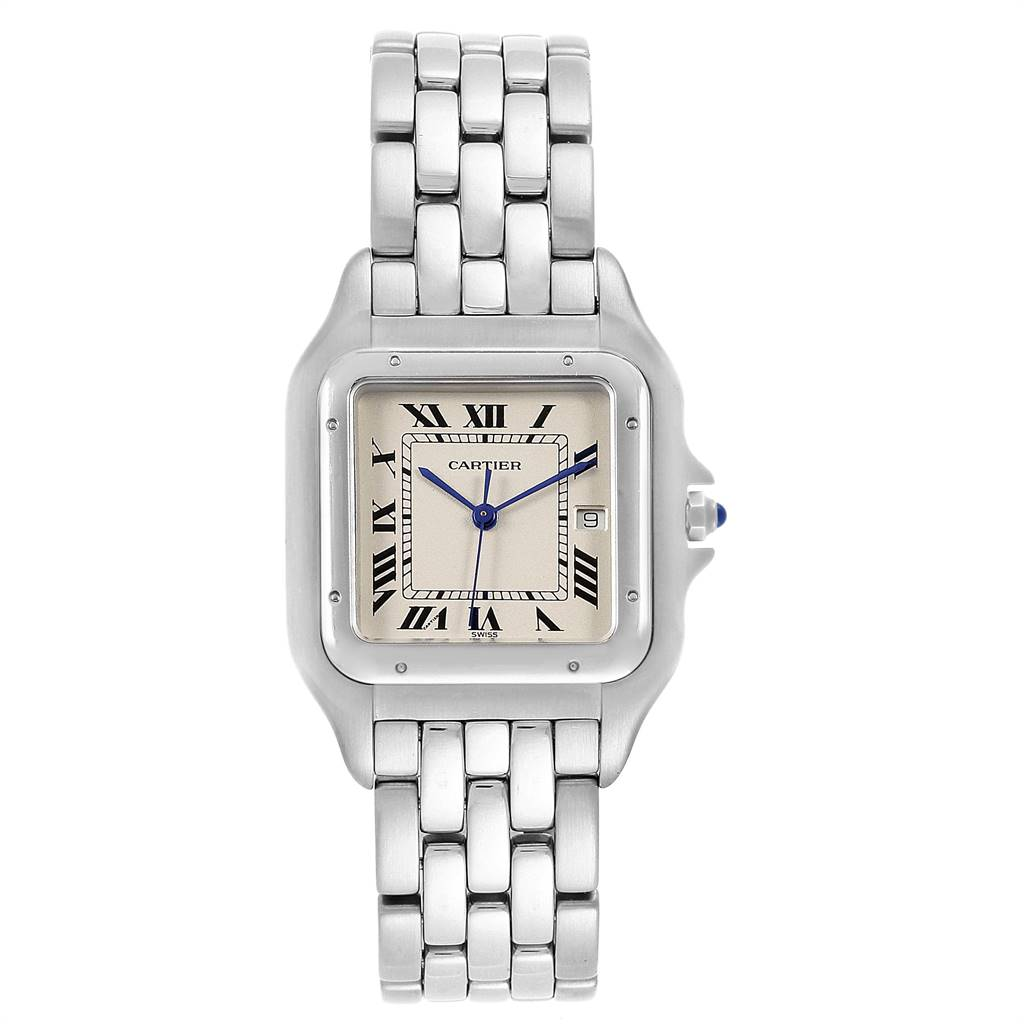 Cartier Panthere Jumbo Stainless Steel Mens Watch W25032P5 SwissWatchExpo