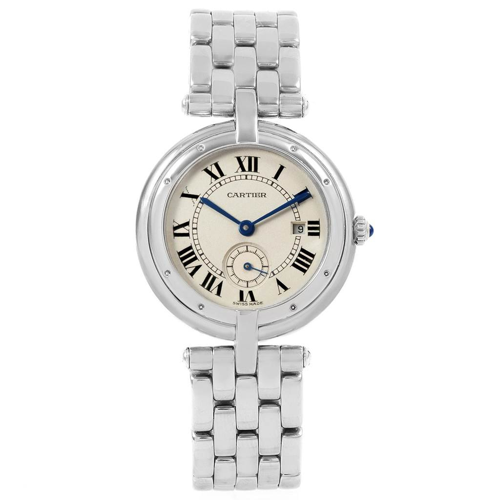 21245 Cartier Panthere Vendome 18K White Gold Ladies Watch 0092 SwissWatchExpo