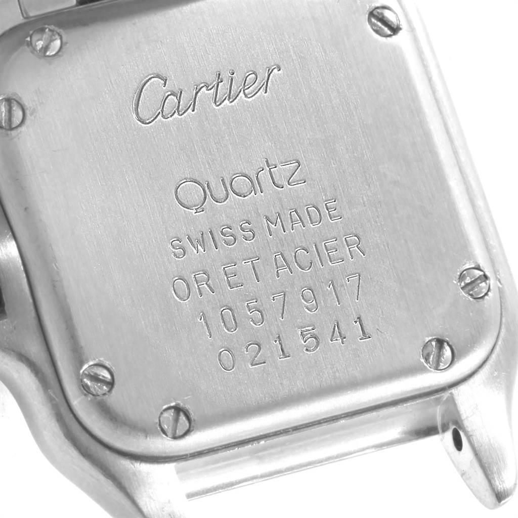21258 Cartier Panthere Ladies Steel 18K Yellow Gold 3 Row Watch W25029B6 SwissWatchExpo