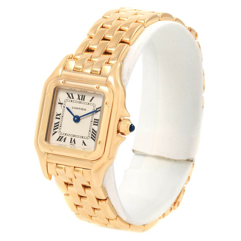 21292 Cartier Panthere Ladies 18k Yellow Gold Watch W25022B9 SwissWatchExpo